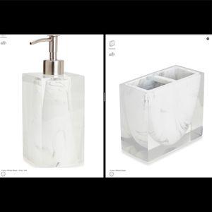 Ducale Lotion Dispenser & Toothbrush Hold KASSATEX